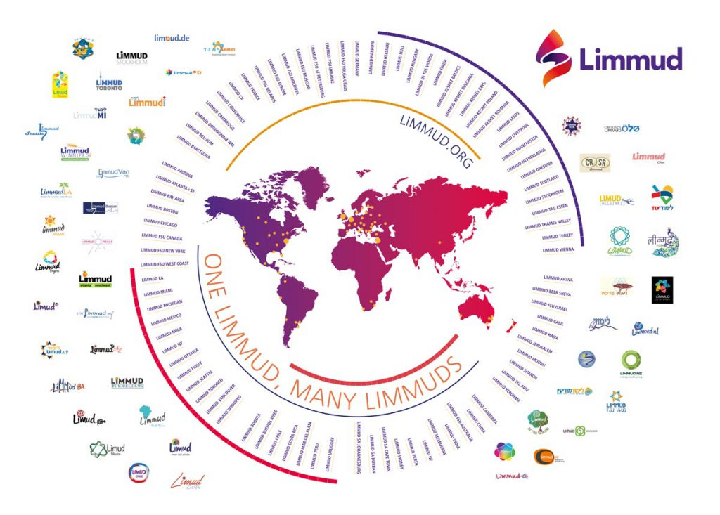 The Limmud global map