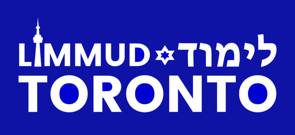 Limmud Logo white text on blue.